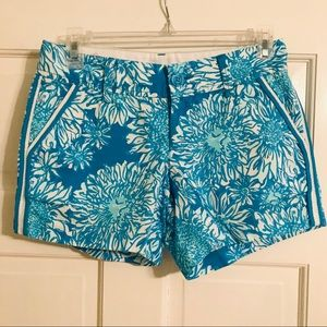 Lilly Pulitzer Callahan blue white shorts size 00